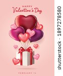 valentine's day sale background....   Shutterstock .eps vector #1897278580