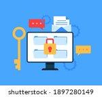 safe data file document... | Shutterstock .eps vector #1897280149