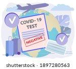 negative rapid test result for... | Shutterstock .eps vector #1897280563