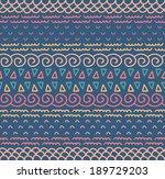 ethnic textile decorative... | Shutterstock .eps vector #189729203