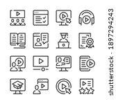 video tutorials line icons set. ... | Shutterstock .eps vector #1897294243