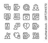 online dating line icons set.... | Shutterstock .eps vector #1897294570