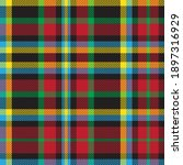 colourful plaid textured...   Shutterstock .eps vector #1897316929