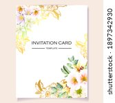 invitation greeting card with... | Shutterstock . vector #1897342930