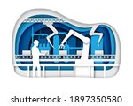 automatic production conveyor... | Shutterstock .eps vector #1897350580