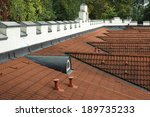 the roof with the battlements... | Shutterstock . vector #189735233