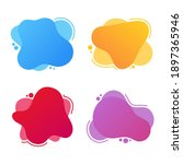 set of modern abstract and...   Shutterstock .eps vector #1897365946