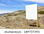 Blank Sign Posted In A Rural...