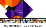 various simple minimal... | Shutterstock .eps vector #1897376290