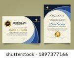 set modern certificate template ... | Shutterstock .eps vector #1897377166