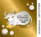 happy chinese new year 2021... | Shutterstock .eps vector #1897379389