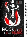 rock music festival poster... | Shutterstock .eps vector #1897379896