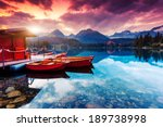 peaceful mountain lake in... | Shutterstock . vector #189738998