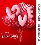valentine's day vector concept... | Shutterstock .eps vector #1897393906