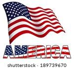 stars and stripes flag... | Shutterstock .eps vector #189739670