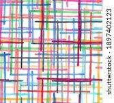 checkered seamless pattern of... | Shutterstock . vector #1897402123