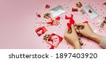 the process of decorating a... | Shutterstock . vector #1897403920