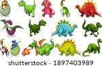 set of different dinosaur...   Shutterstock .eps vector #1897403989