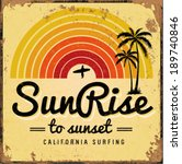 set of summer   surfing design  ... | Shutterstock .eps vector #189740846