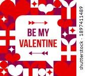 be my valentine. valentine's... | Shutterstock .eps vector #1897411489