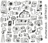 photography doodles | Shutterstock .eps vector #189744119