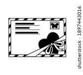 Closed Envelope Decorated With...