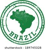 vintage style brazil south... | Shutterstock .eps vector #189745328