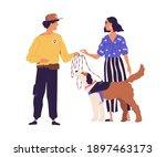 professional dog walker from... | Shutterstock .eps vector #1897463173
