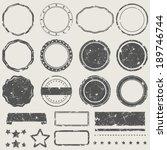 vector set of grunge empty... | Shutterstock .eps vector #189746744
