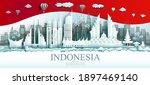 travel indonesia top world... | Shutterstock .eps vector #1897469140