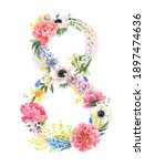 beautiful floral composition... | Shutterstock . vector #1897474636