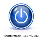 power circular icon on white... | Shutterstock . vector #189747683