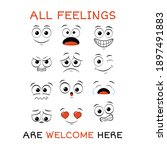 all feeling are welcome here.... | Shutterstock .eps vector #1897491883