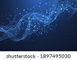 molecular structure background. ...   Shutterstock . vector #1897495030