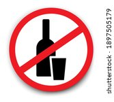 alcohol ban. a bottle with a...   Shutterstock .eps vector #1897505179