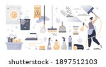 cleaning set with hygiene care...   Shutterstock .eps vector #1897512103