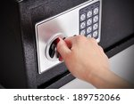 woman hand opened a safe  close ... | Shutterstock . vector #189752066