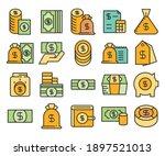dollar bank  dollar coin icons... | Shutterstock .eps vector #1897521013