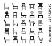 chair and sofa icons vector set | Shutterstock .eps vector #1897529260