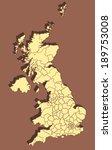 united kingdom vector map | Shutterstock .eps vector #189753008