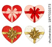 set of hearts shaped boxes with ... | Shutterstock .eps vector #1897533373
