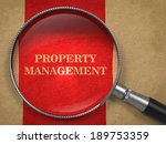 property management. magnifying ... | Shutterstock . vector #189753359