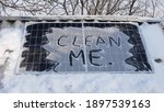Clean Me. Solar Panel In The...