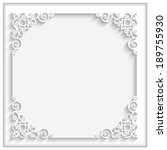 abstract square lace frame with ... | Shutterstock .eps vector #189755930