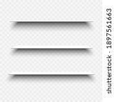 white empty shelves with... | Shutterstock .eps vector #1897561663