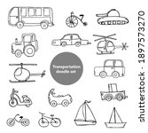 doodle images of modes of...   Shutterstock .eps vector #1897573270