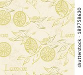 lemon seamless patternl. vector ... | Shutterstock .eps vector #189758630