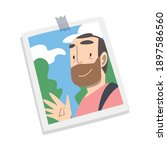 photographic print or selfie... | Shutterstock .eps vector #1897586560