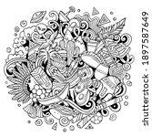 chile hand drawn cartoon...   Shutterstock .eps vector #1897587649