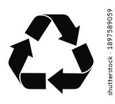 recycle icon vector isolated on ...   Shutterstock .eps vector #1897589059
